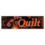 Quilt Pumpkin Bumper Sticker (10 pk)