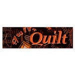 Quilt Pumpkin Bumper Sticker