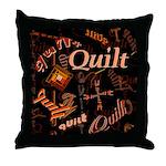 Quilt Pumpkin Throw Pillow