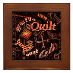 Quilt Pumpkin Framed Tile