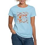 Quilt Pumpkin Women's Light T-Shirt