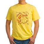 Quilt Pumpkin Yellow T-Shirt