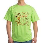 Quilt Pumpkin Green T-Shirt