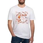 Quilt Pumpkin Fitted T-Shirt