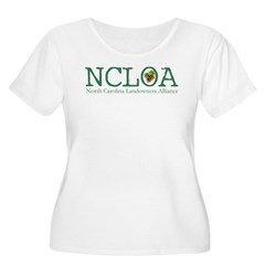 Women's White Plus Size T-Shirt