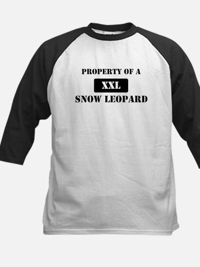 Property of a Snow Leopard Kids Baseball Jersey