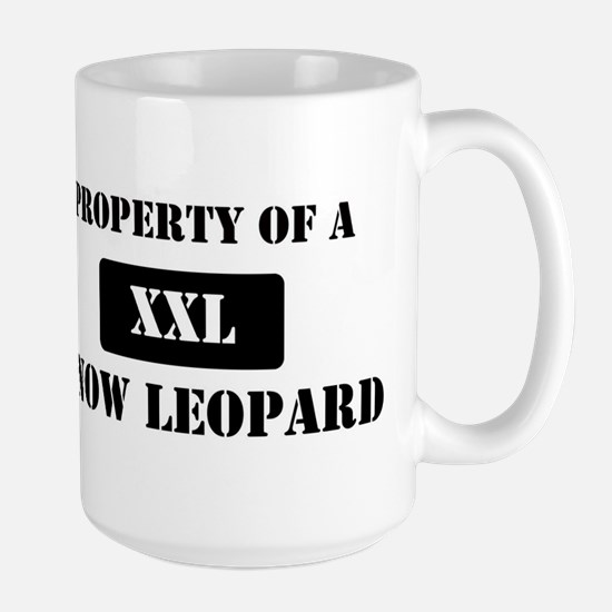 Property of a Snow Leopard Large Mug