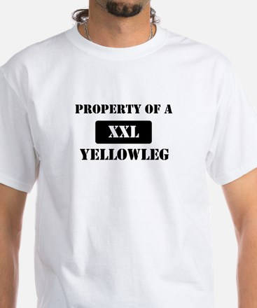 Property of a Yellowleg White T-Shirt
