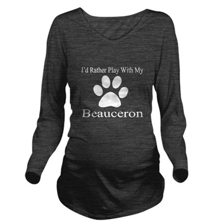 Beauceron Dog Design Long Sleeve Maternity T-Shirt