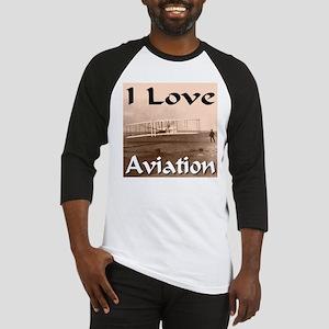 I Love Aviation Baseball Jersey