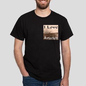 I Love Aviation Dark T-Shirt