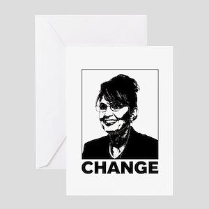 Palin Change Greeting Card
