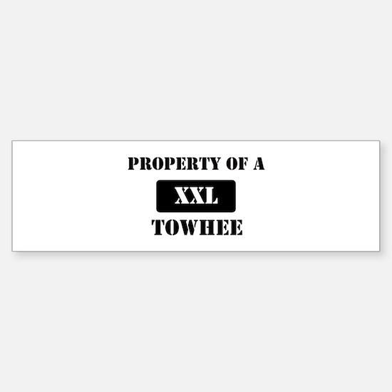 Property of a Towhee Bumper Bumper Bumper Sticker