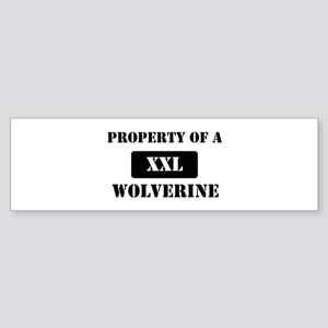 Property of a Wolverine Bumper Sticker