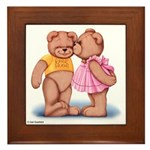 Teddy Love Framed Tile