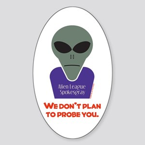 No Probes Oval Sticker