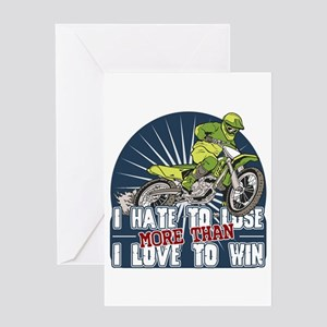 Hate to Lose Motocross Greeting Card