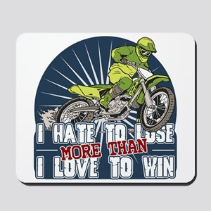 Hate to Lose Motocross Mousepad