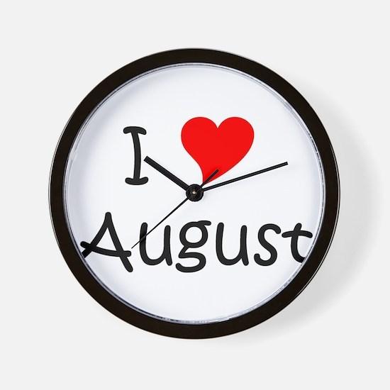 Unique August Wall Clock