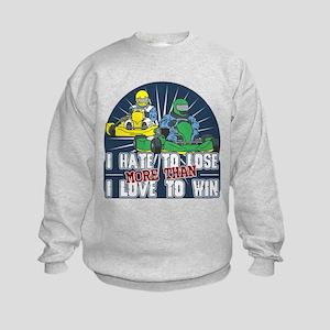 Hate to Lose Go Kart Kids Sweatshirt