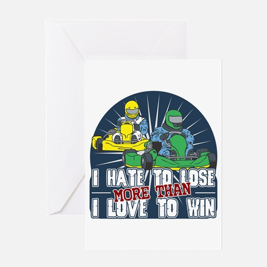 Hate to Lose Go Kart Greeting Card