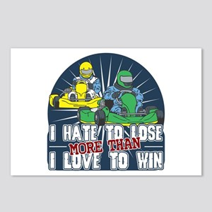 Hate to Lose Go Kart Postcards (Package of 8)