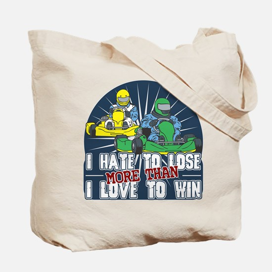 Hate to Lose Go Kart Tote Bag