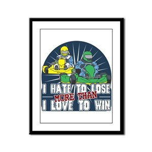 Hate to Lose Go Kart Framed Panel Print