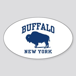 Buffalo New York Oval Sticker