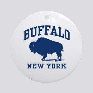 Buffalo New York Ornament (Round)