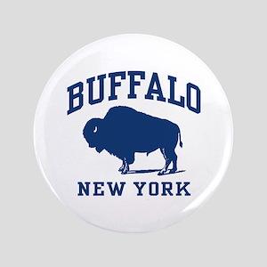 """Buffalo New York 3.5"""" Button"""