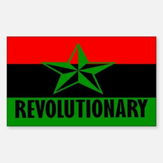 Marcus Garvey Revolutionary Rectangle Decal