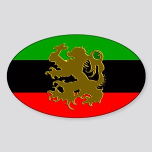 Marcus Garvey Lion of Judah Oval Sticker