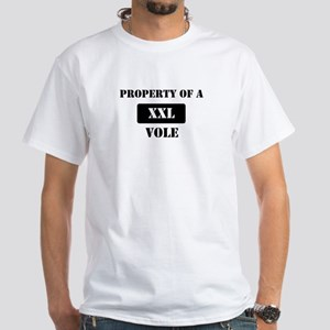 Property of a Vole White T-Shirt