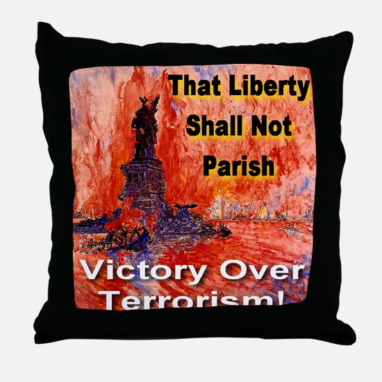 Victory Over Terrorism Throw Pillow