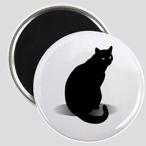 Basic Black Cat Magnet