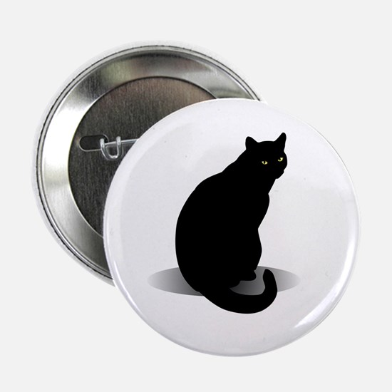 "Basic Black Cat 2.25"" Button"