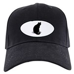 Basic Black Cat Black Cap
