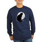 Basic Black Cat Long Sleeve Dark T-Shirt