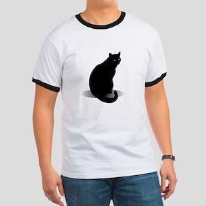 Basic Black Cat Ringer T