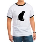 Basic Black Cat Ringer T