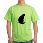 Basic Black Cat Green T-Shirt