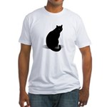 Basic Black Cat Fitted T-Shirt