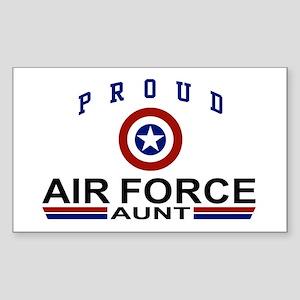 Proud Air Force Aunt Rectangle Sticker