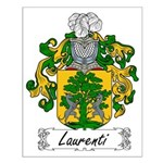 Laurenti Family Crest Small Poster
