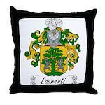 Laurenti Family Crest Throw Pillow