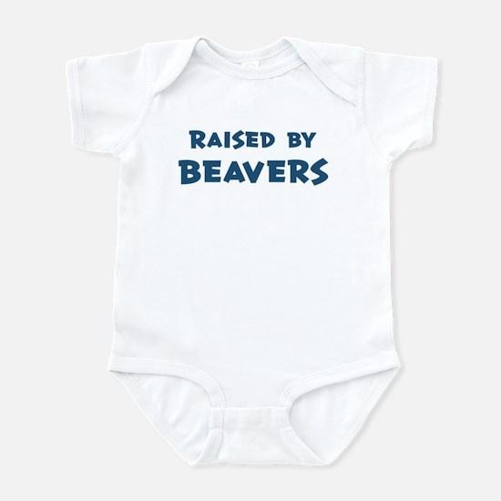Raised by Beavers Infant Bodysuit