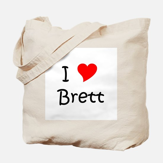 Unique I heart brett Tote Bag