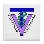 Tile Coaster - Vet Tech Logo