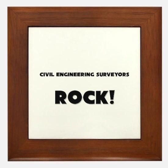 Civil Engineers ROCK Framed Tile